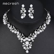 bridal necklace set pearl images Mecresh elegant simulated pearl bridal jewelry sets cute plant jpg