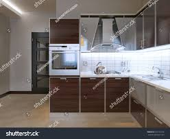 interior amazing white kitchen cabinets with fasade backsplash idea modern kitchen new kitchen zebrano stock illustration