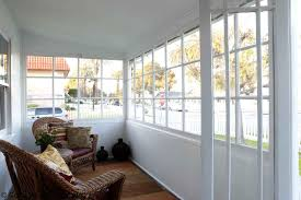 Exterior Interesting Glass Enclosed Patio Decor With
