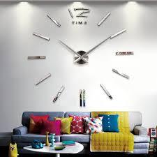 Design Spiegel Wohnzimmer Wand Uhr Wohnzimmer Wanduhr Spiegel Wandtattoo Deko Xxl 3d Café