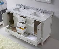 virtu usa 60 inch caroline avenue double sink vanity in white with