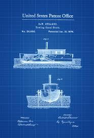 submarine patent print vintage submarine submarine blueprint