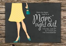 invites only moms u0027 night out invitation digital file only