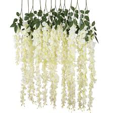 amazon com luyue 3 18 feet artificial silk wisteria vine ratta