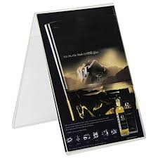 table tent sign holders amazon com clear ad lho 46 acrylic double sided table tent
