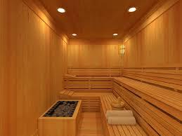 interior simple and small wooden sauna room interior design
