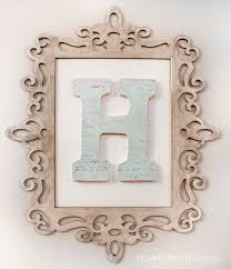 Monogrammed Home Decor Stylish Monogrammed Wall Decor