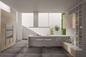 design marvelous slant ceiling kitchen design brown sleek wooden
