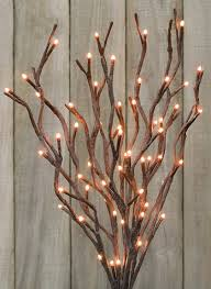 pre lit branches branches w lights for the home twig lights