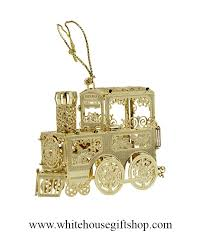 White House Christmas Ornament - the white house express train christmas ornament completely 24kt