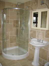 cool small shower with glass door curved shape in old fashioned