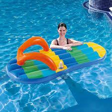 amazon com blue wave beach striped flip flop 71 inch inflatable