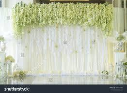 wedding backdrop photo wedding backdrop flower decoration stock photo 361318943