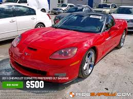 salvage corvette for sale shop for used or salvage chevrolet corvette cars on sale