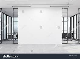 White Wall by Office Lobby Large White Wall Middle Stock Illustration 515173162