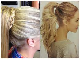 1 high ponytail with braid wrapped around hair pinterest