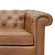 Chesterfield Sofa Brown Jacob Chesterfield 3 Seater Sofa Biscuit Brown Leather The
