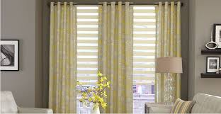 Curtain With Blinds Window Treatments For The Living Room 3 Day Blinds