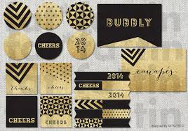 gold black glitter decorations printable banners