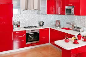 Red Kitchen White Cabinets 16 Bold Red Kitchen Designs Big And Small