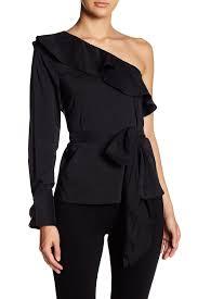 one shoulder blouse haute rogue ruffle one shoulder blouse nordstrom rack