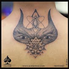 lord shiva tattoo with third eye