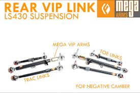 lexus ls430 vip parts mega arms ls430 rear link kit vip extreme edition