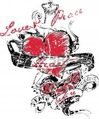 gothic heart love tattoo design