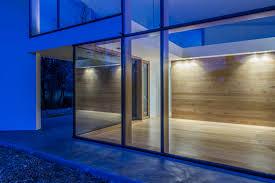 glass walls architecture night view loversiq