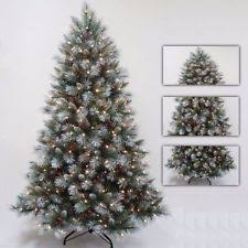 werchristmas 6 ft slim frosted pre lit tree with berries