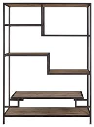 Staggered Bookshelves by Extra Large Staggered Shelf Etagere Book Shelves Open Industrial
