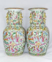 Chinese Vases Uk Pair 19th Century Chinese Canton Vases 124998 Sellingantiques