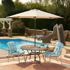 Patio Table Parasol by Umbrella Patio Furniture Covers Patio Accessories The Home Depot