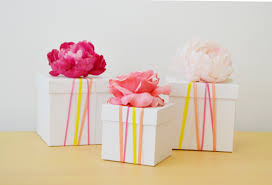 wrapped gift box diy gift wrapping ideas with ribbon spark and chemistry crafts