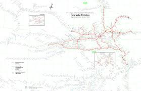 Montana River Map by Multimodalways Burlington Northern Santa Fe Railway Archives Maps