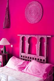 magenta bedroom magenta colored wall with white bed sheet for eclectic bedroom