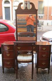 Vanities Furniture 1940s Furniture 1940s Mahogany Vanity W Mirror Sold 1940s