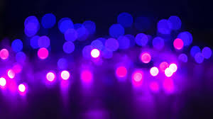 Purple Shades by Beautiful Glamour Bokeh Of Defocused Christmas Lights In Shades Of