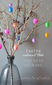 easter ornament tree an easter advent tree a house of