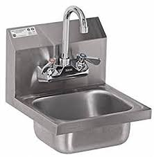 stainless steel hand sink amazon com stainless steel hand sink nsf commercial equipment