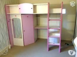 bureau surélevé lit mezzanine avec bureau et armoire lit sureleve avec bureau lit