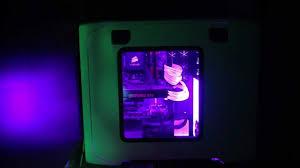 purple led lights for computers rgb led light kit inside a corsair 600t white case youtube