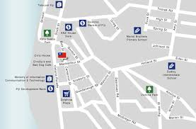 map of suva city republic of fiji east asia and pacific ministry of foreign