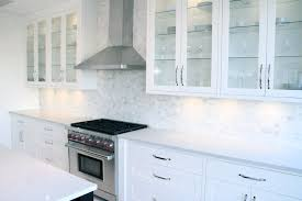 kitchen design chrome traditional faucet white mosaic marble tile