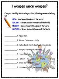 seven wonders of the world facts u0026 worksheets kidskonnect