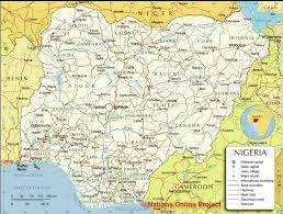 nigeria physical map maps of various states and their local governments in nigeria