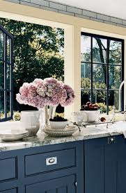 stylish yet timeless kitchen designs gray island black windows