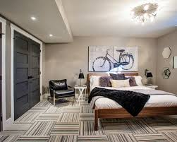 stylish grey and white wall to be basement guest room part of
