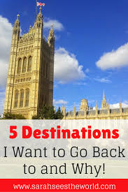 top 5 destinations i want to go back to and why beautiful back