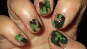 camouflage nail art tutoral on short nails youtube